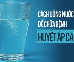Cách uống nước tốt cho người cao tuổi